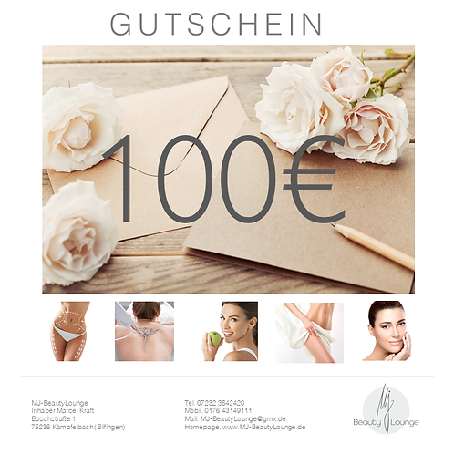Online Wertgutschein 100,- Euro