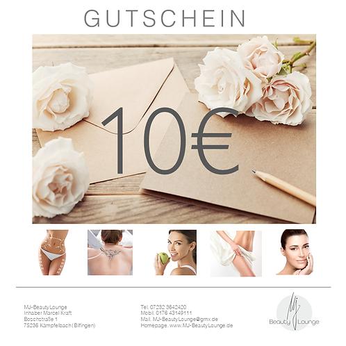 Online Wertgutschein 10,- Euro