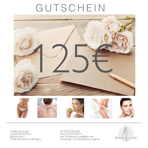 Online Wertgutschein 125,- Euro