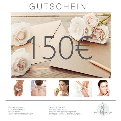 Online Wertgutschein 150,- Euro