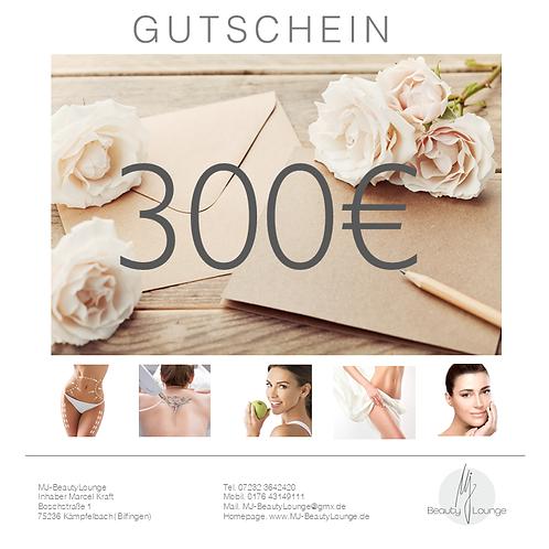 Kopie von Online Wertgutschein 300,- Euro