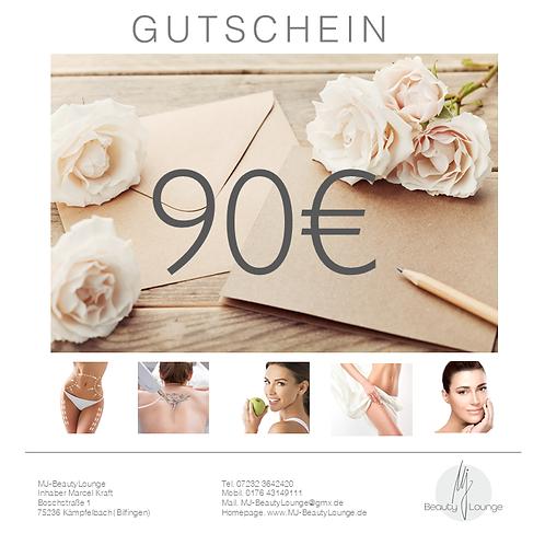 Online Wertgutschein 90,- Euro