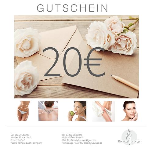 Online Wertgutschein 20,- Euro