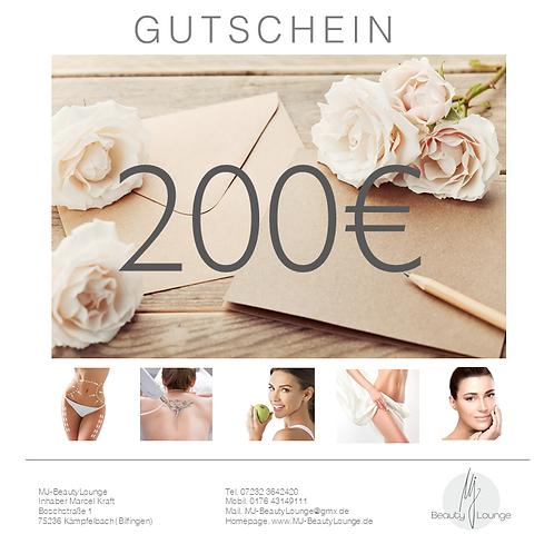 Online Wertgutschein 200,- Euro