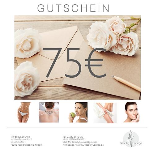 Online Wertgutschein 75,- Euro