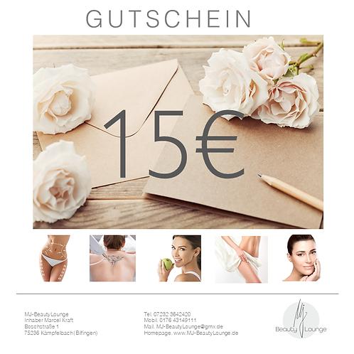 Online Wertgutschein 15,- Euro