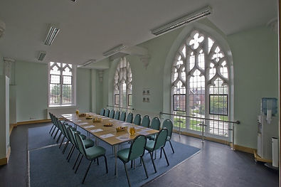 Large windows overlooking our gardens. Seats 20 guests boardroom or 40 theatre style.