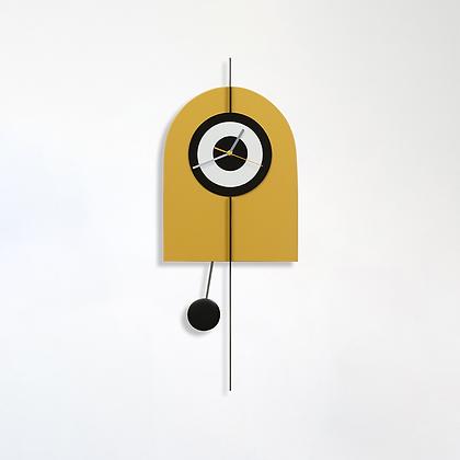 שעון קשת צהוב חרדל/שחור לבן