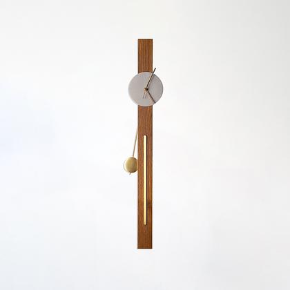 שעון מטוטלת עץ/בטון