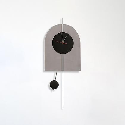 שעון קשת בטון/שחור