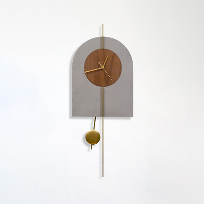 שעון קשת בטון /עץ