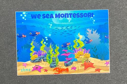 We Sea Montessori Sticker