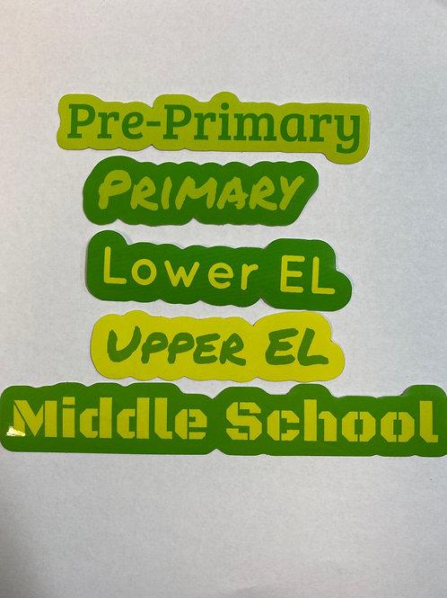 SHMA Class Stickers