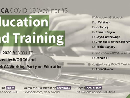 WONCA Webinar - Education with COVID