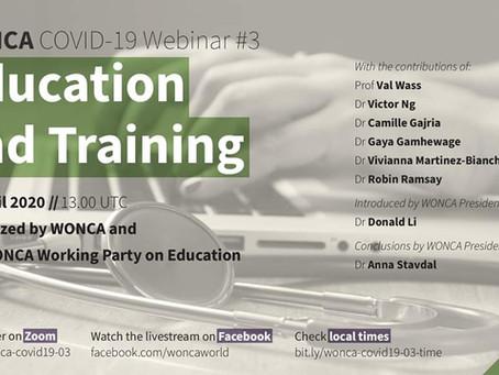 WONCA Webinar - Education with COVID