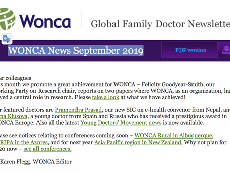WONCA News September 2019