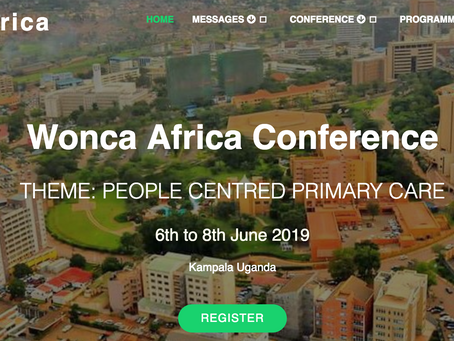 Wonca Africa Conference 6-8 June 2019 in Kampala Uganda!