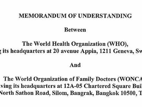 WONCA MOU WITH WHO