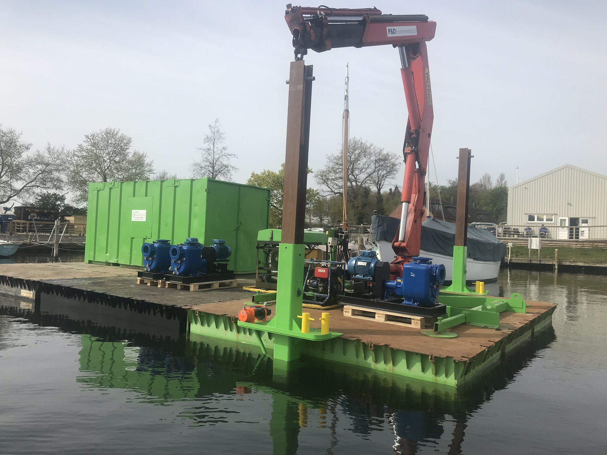 Nato Pontoons and Hiab Crane