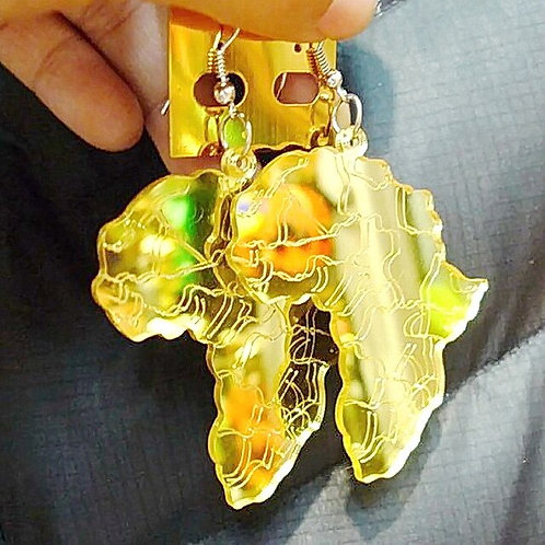 Africa Continent Earrings