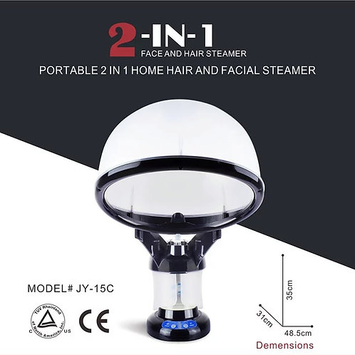 2 in 1 Portable Hair and Facial Steamer