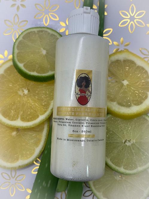 Lemon Lime Aloe Vera Sulfate Free Shampoo