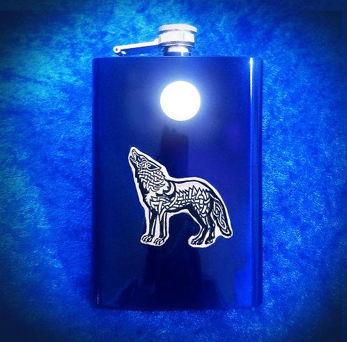 Celtic Wolf Flask