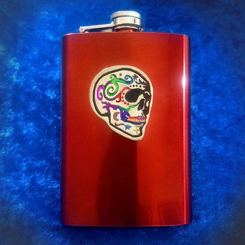 Southwestern Skull Flask