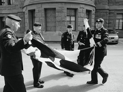 Folding the Flag for Prince Philip