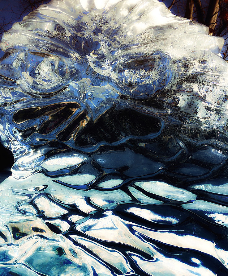 Owl of Ice by Karen Boissonneault-Gauthi