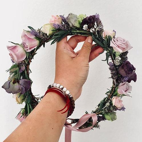 5+ Varietal Flower Crown - Rustic Band