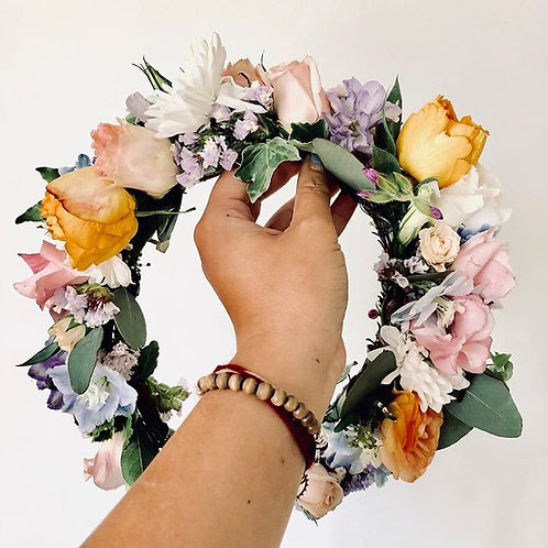 Custom Designed Flower Crown, Speciality 7+ Varietals
