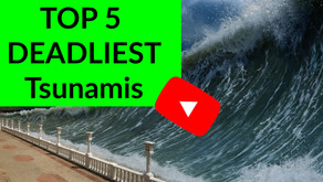 What are the top 5 deadliest tsunamis of all time?