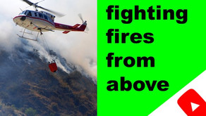 Teaching helicopter pilots fo fight forest fires