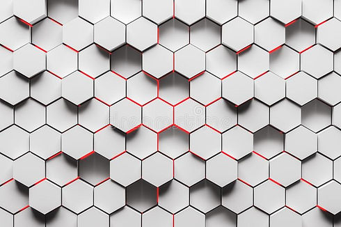 white-hexagon-pattern-background-abstrac