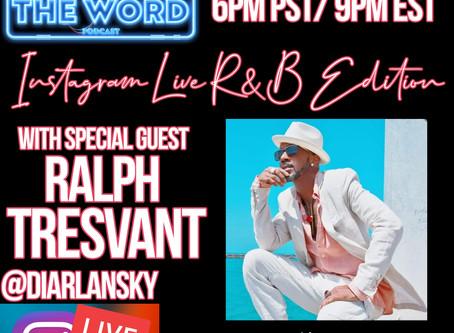 Ralph Tresvant [New Edition] Visits Whutz The Word Podcast.