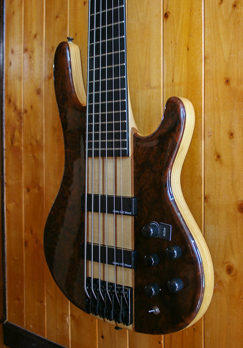 Wolf S9-6 6 String Bass - Quilted Bubinga