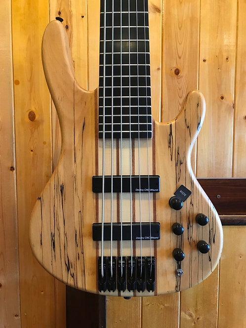AIO Wolf SSB-6 6 String Bass Spalted Maple