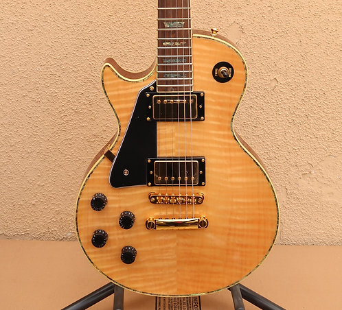 Wolf WLP 750T Left-Handed Electric Guitar - Natural w/Gator Hard Case