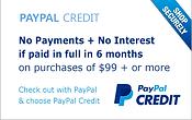 Paypal, credit, no interest, finance, guitar