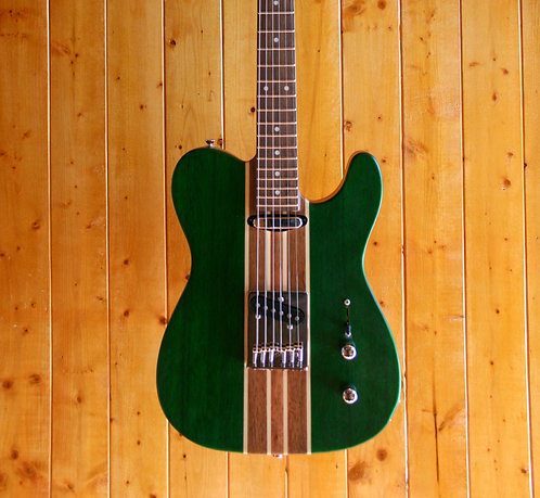 Wolf TC1 Electric Guitar - Green w/Gig Bag