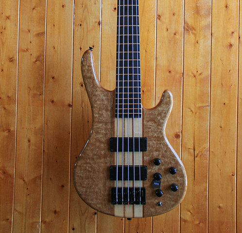 AIO Wolf S7-5 5 String Bass Guitar - Natural