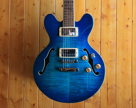 AIO Wolf WA-TM Semi-Hollow Electric Guitar(CS-356 Size)- Blue Burst