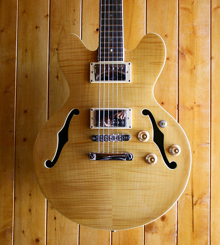 AIO Wolf WA-TM Semi-Hollow Electric Guitar(CS-356 Size)- Natural