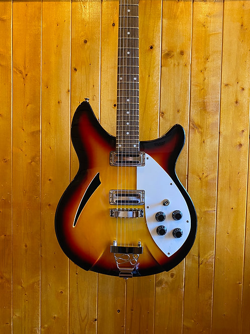 AIO Wolf W300 Semi-Hollow Electric Guitar 3-Tone Sunburst