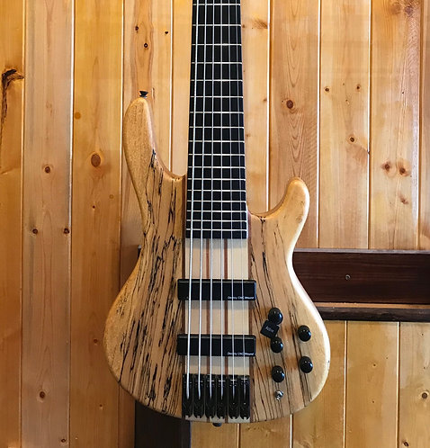 AIO Wolf SSB-6 6 String Bass Spalted Maple (#6) w/gig bag