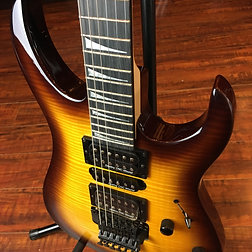 Wolf Wk Flame Maple W Floyd Rose Electric Guitar Brown SunburstBlack Hardware