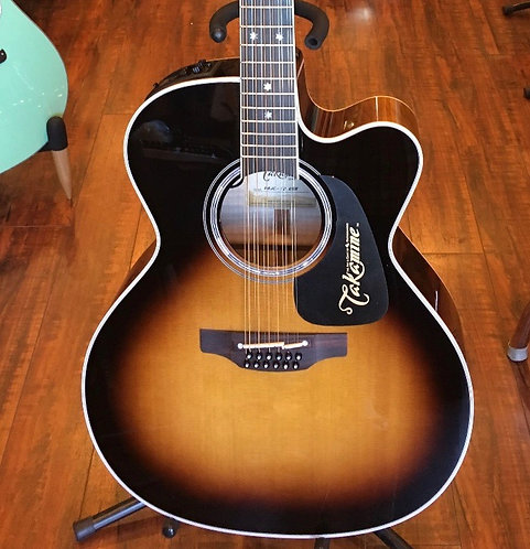 Takamine P6JC 12-String Jumbo Acoustic/Electric Guitar - Brown Sunburst Gloss