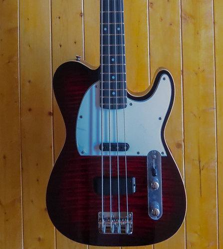 AIO TB4 4 String Bass - Red Burst w/gig bag