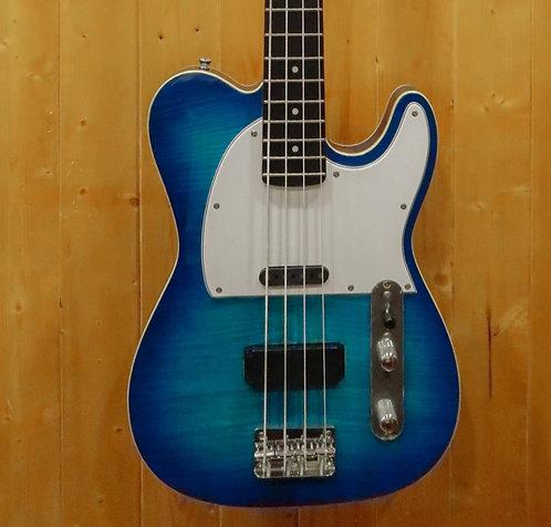 AIO TB4 4 String Bass - Blue Burst w/gig bag